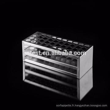 support adapté aux besoins du client de tube à essai d'acier inoxydable
