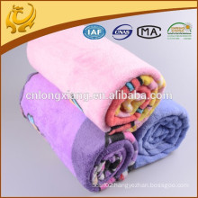 2015 Hot Sale Promotion Products Popular And Lovely Design 100% Cotton Flannel Brushed Blankets