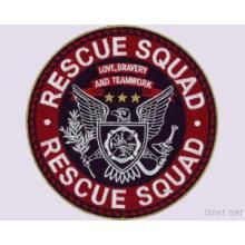 Remendo do projeto do bordado do esquadrão do resgate