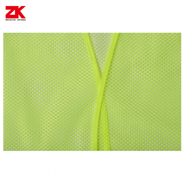 Mesh Yellow Safety Vest Details