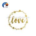 Blinkender metallischer temporärer Tätowierungsaufkleber für die wedding Braut, einfacher Übertragungsaufkleber