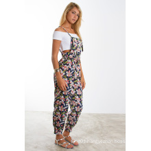 New Floral Print Adjustable Cami Straps Sexy Jumpsuit