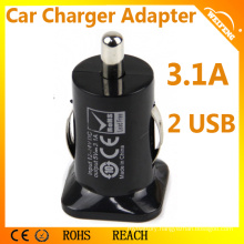 High Quality 3100mA Universal Car Charger With Dual USB
