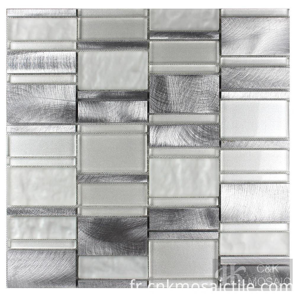 White Glass Mosaic With Mirror