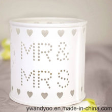 Popular White Glass Jar Candle for Wedding and Gift