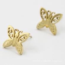 Нержавеющая сталь позолоченные серьги бабочки серьги