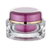 Oval de acrílico cosméticos Jar