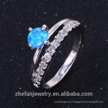Bom priceródio chapeamento de fogo opala elegent anel da jóia em alta qualidade