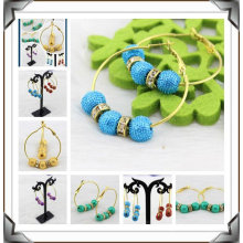 Fashion DIY Basketball Wives Earrings Colorful Hoop Earrings BWE28