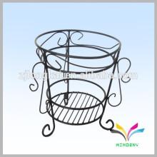 China fabricante caliente venta de alta calidad de antigüedades de lujo decorativa de metal jardín al aire libre de esquina pote de soporte