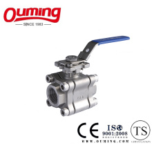 3PC High Pressure Ball Valve with Mounting Pad
