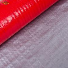 Silver red uv coated PE woven tarpaulin
