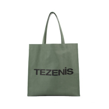 Wholesale large capacity waterproof coated waxed canvas fabric with leopard print design shopping tote bag