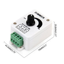 Useful DC9-24V 16A PWM Rotary Knob Dimmer Controller for Single Color LED Strip, LED Lights with factory price