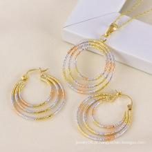 Xuping moda multi-color cobre conjunto de jóias
