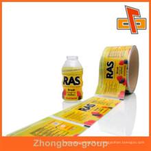 Aceite a ordem feita sob encomenda na porcelana Rolos de película plásticos do PVC do OEM para frascos da bebida com seu próprio logotipo