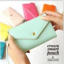 Hochwertige Candy Farbe PU Smart Phone Geldbörse
