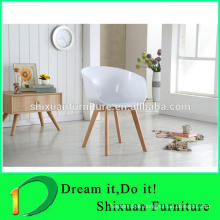 wood legs PP seat colorful office chair