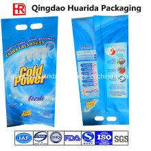 Bolsa de embalaje de plástico sellado posterior del polvo de lavado con el logotipo de encargo