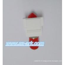 St Simplex Adaptateur à fibre optique avec adaptateur à fibre optique Snap-in Fiber