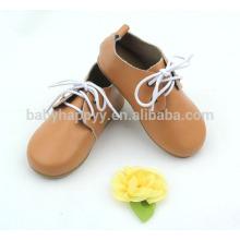 Chaussures en cuir de style anglais chaussures en cuir véritable en gros