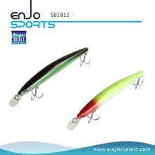 Angler Auswählen Shallow Tauchen Hartplastik Minnow Stick Bait Salzwasser Süßwasser Angeln Tackle Lure (SB1812)