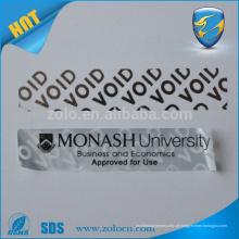 Hot ZOLO adesivo de prata de vinil de prata garantia de etiqueta vazio etiqueta de segurança