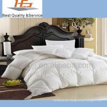 luxury 100% cotton white hotel bed set quilt