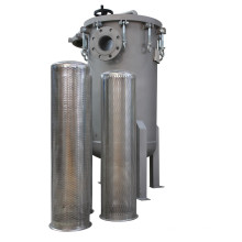 Carcasa de filtro multi bolsa de acero inoxidable con conexión de brida ANSI