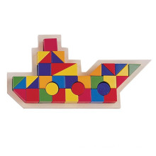 colorful wooden building blocks for child