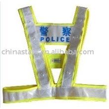 EN471 calentamiento llevó chaleco reflectante de seguridad con cinta de PVC