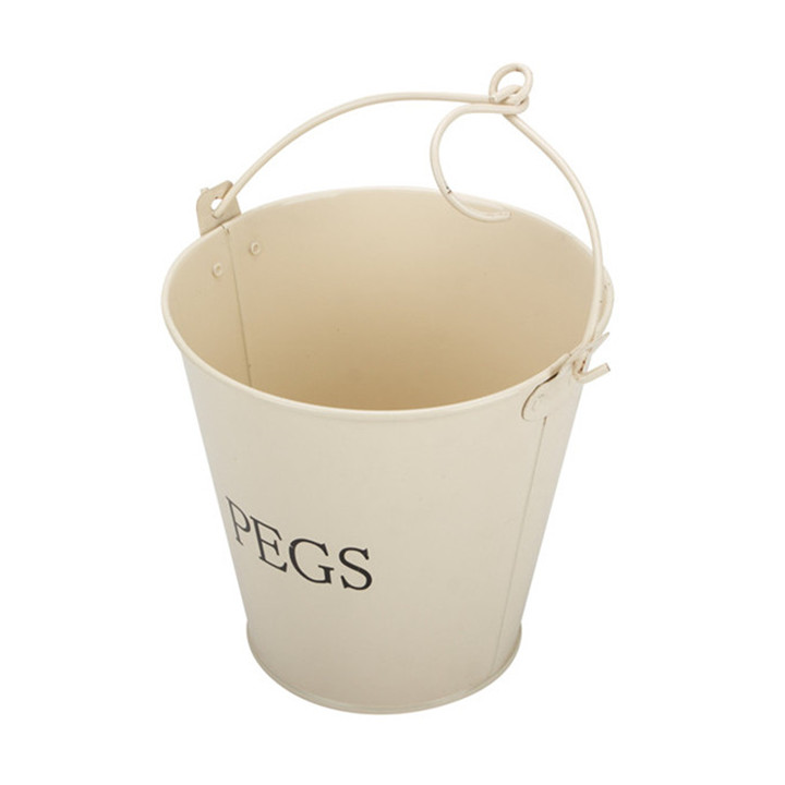Cream White Coated Water Pail with Handle