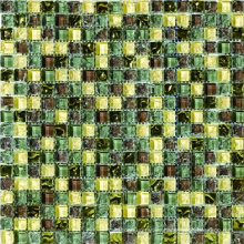 High Quality of Crystal Mosaic Tile with ISO9001 (AJR1502A)