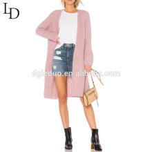 Venda quente outono moda casual longa das mulheres cardigan longa camisola
