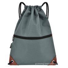 Wholesale factory price custom logo sports cotton canvas drawstring backpack bag
