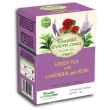 Lavender Flavored Green Tea Pyramid Tea Bag Premium Blends Organic & EU Compliant (FTB1510)
