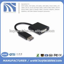 Черный порт дисплея для DVI-кабеля адаптера Мужчина и женщина