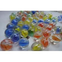 Mármoles de vidrio (PORCELANA CON COLOR ALREDEDOR), mármoles de juguete, mármoles de cristal de China, jugando mármoles de vidrio