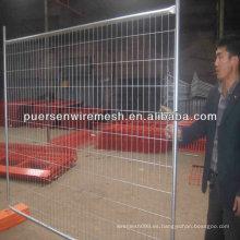 Fabricación de barreras de construcción de metal para vallas temporales