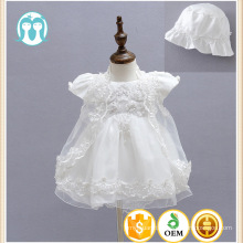 2017 High Quality First Communion Dresses For Girls short Sleeve Flower Beaded Princess White Party Wedding Dress with Hat 2017 High Quality First Communion Dresses For Girls short Sleeve Flower Beaded Princss White Party Wedding Dress with Hat