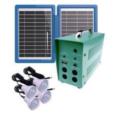 Sistema de iluminación portátil barato del panel solar 10W 18V para acampar