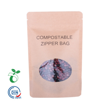 Sacchetto di carta kraft biodegradabile compostabile ecologico