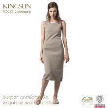 100 robes longues tricotées de femmes de cachemire, robes décontractées de créateur d'été pour des femmes
