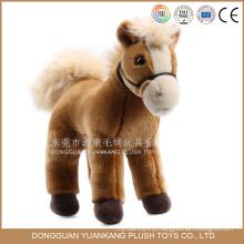 Brinquedo feliz do luxuoso do cavalo do promocional 20cm enchido para crianças