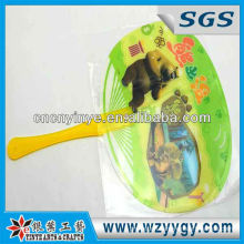 High quality hand fan for promotion, PVC printed hand fan
