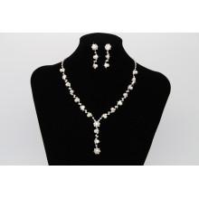 2017 Party Geschenk Frauen Kristall Perlen Ohr Ring Halskette