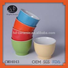 Matériel en grès glace verres à café sans poignée, tasses avec design couleur, coupe expresso, glace