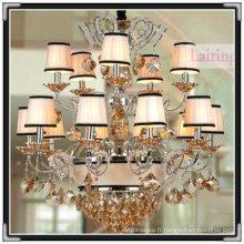 lustre en cristal moderne, lustre d'éclairage, lustre de fer