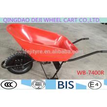 Строительство/садовые Тачки оцинкованный лоток пу колесо WB-7400R