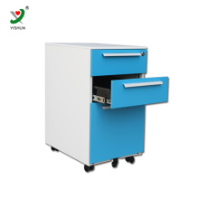 Optional color steel 3 drawers filing cabinet mobile metal cabinet with castors